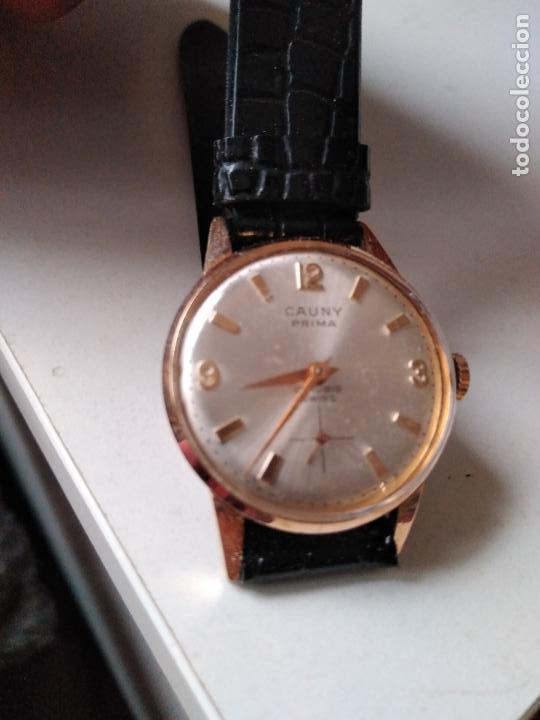 CAUNY PRIMA. 17 RUBIS. . SUIZO. PLAQUE ORO. CON SEGUNDERO RELOJ DE MUJER (Relojes - Pulsera Carga Manual)