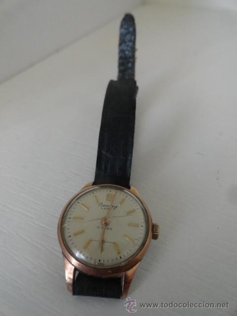 Relojes de pulsera: Cauny Prima. 17 Rubis. . suizo. Plaque oro. CON SEGUNDERO RELOJ DE MUJER - Foto 5 - 94078905