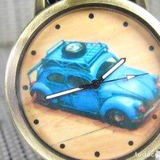 Relojes de pulsera: BONITO Y CLASICO RELOJ DE CABALLERO ESFERA VOLKSWAGEN ESCARABAJO AÑOS 50 NUEVO . Lote 95755159