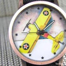 Relojes de pulsera: BONITO Y CLASICO RELOJ DE CABALLERO ESFERA AVION SEGUNDA GUERRA MUNDIAL NUEVO . Lote 95755567