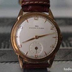 Relojes de pulsera: RELOJ CAUNY PRIMA REX ANCORA 15 RUBIS. Lote 95916211