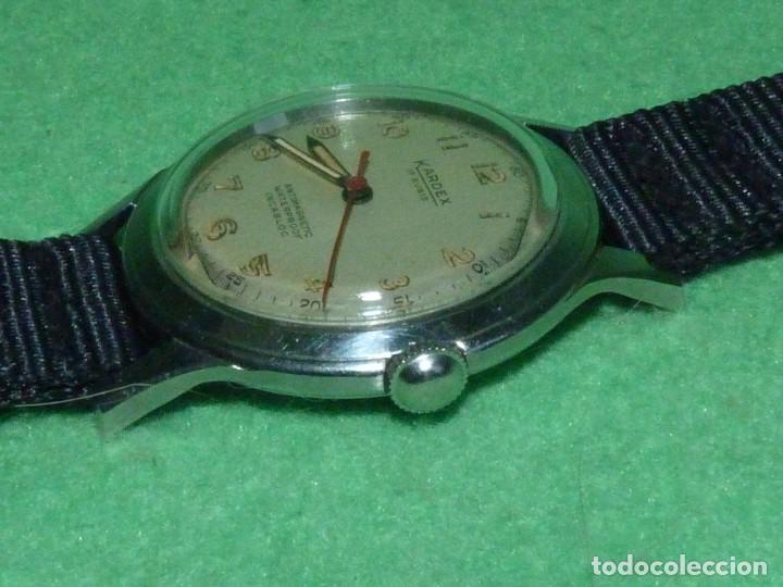 Relojes de pulsera: Precioso reloj KARDEX tipo militar años 50 calibre ETA 2370 swiss made 17 rubis caja acero BAUHAUS - Foto 2 - 96545343