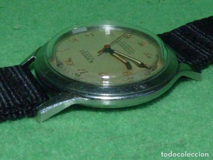 Relojes de pulsera: Precioso reloj KARDEX tipo militar años 50 calibre ETA 2370 swiss made 17 rubis caja acero BAUHAUS - Foto 3 - 96545343