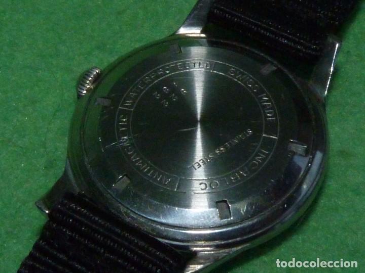 Relojes de pulsera: Precioso reloj KARDEX tipo militar años 50 calibre ETA 2370 swiss made 17 rubis caja acero BAUHAUS - Foto 7 - 96545343