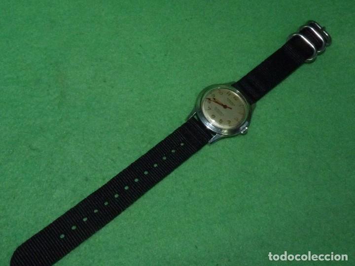 Relojes de pulsera: Precioso reloj KARDEX tipo militar años 50 calibre ETA 2370 swiss made 17 rubis caja acero BAUHAUS - Foto 8 - 96545343