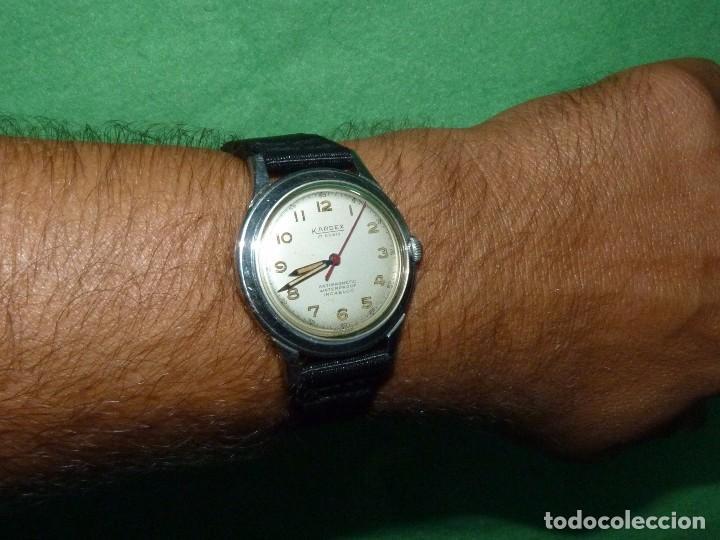 Relojes de pulsera: Precioso reloj KARDEX tipo militar años 50 calibre ETA 2370 swiss made 17 rubis caja acero BAUHAUS - Foto 9 - 96545343