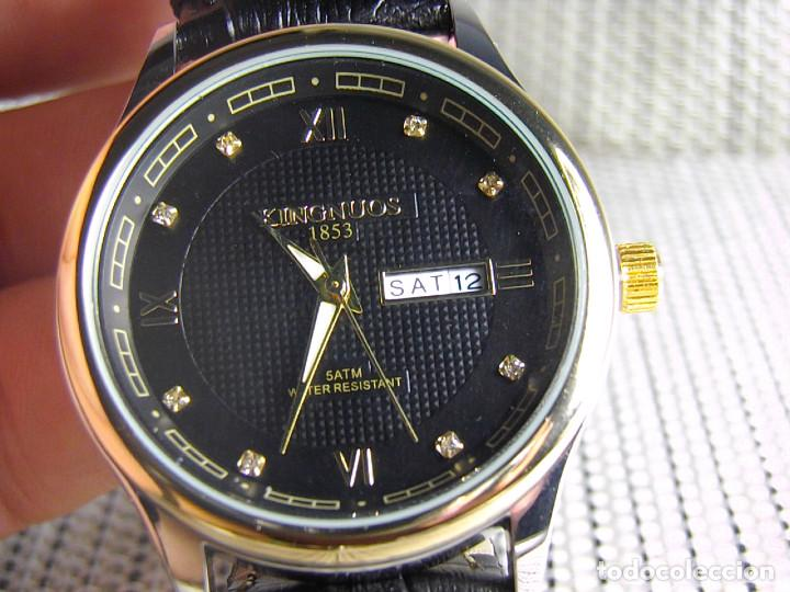 648f50b75c04 EXCELENTE Y MODERNO RELOJ DE CABALLERO CRISTAL DE ZAFIRO SUMERGIBLE 30  METROS LOTE WATCHES (Relojes