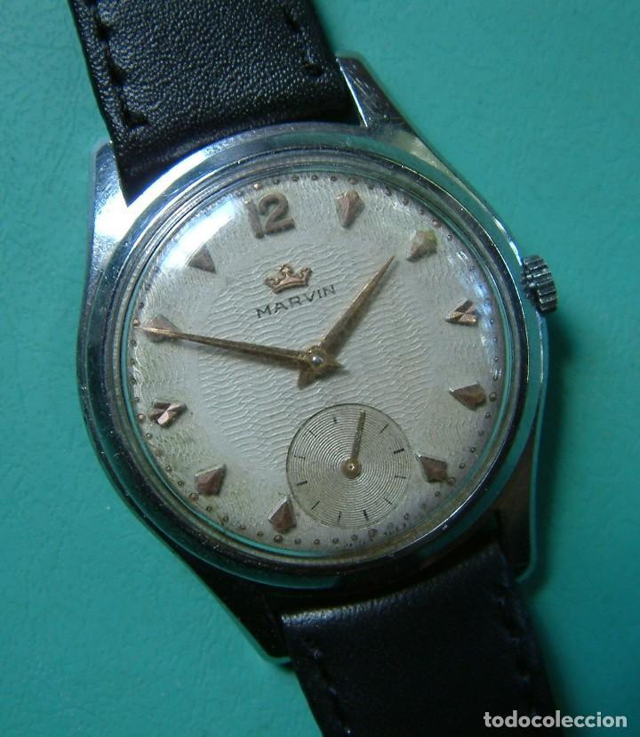 VINTAGE RELOJ PULSERA MARCA MARVIN CARGA MANUAL FUNCIONANDO (Relojes - Pulsera Carga Manual)