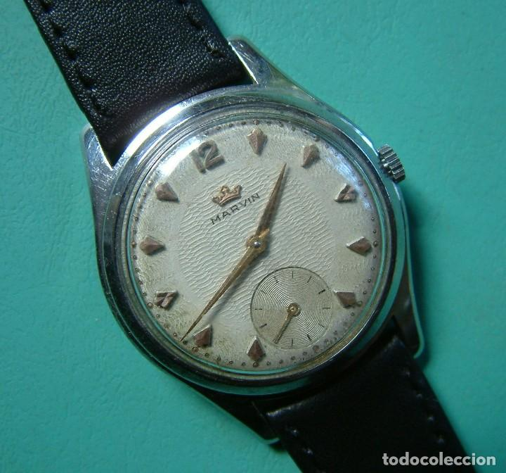 Relojes de pulsera: VINTAGE RELOJ PULSERA MARCA MARVIN CARGA MANUAL FUNCIONANDO - Foto 2 - 97528411