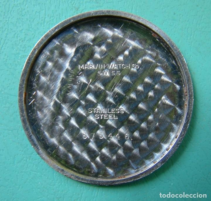 Relojes de pulsera: VINTAGE RELOJ PULSERA MARCA MARVIN CARGA MANUAL FUNCIONANDO - Foto 8 - 97528411
