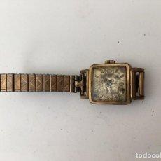 Reloj Tormas caja chapada oro y correa flexible
