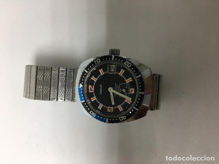 RELOJ VADUR EN ACERO COMPLETO CORREA FLEXIBLE NUEVA EN FUNCIONAMIENTO (Relojes - Pulsera Carga Manual)
