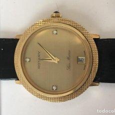 Relojes de pulsera: RELOJ ROTARY SAN MARCO CHAPADO ORO Y BRILLANTES Y PIEDRA PRECIOSA EN LA CORONA . Lote 98037307