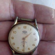Relojes de pulsera: HOBA RELOJ ANTIMAGNETIC 15 JEWELS MADE SWISS. Lote 98050199