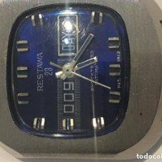 Relojes de pulsera: RELOJ RESTAWA 23 PRECIOSO AZUL FUNCIONANDO. Lote 140404256