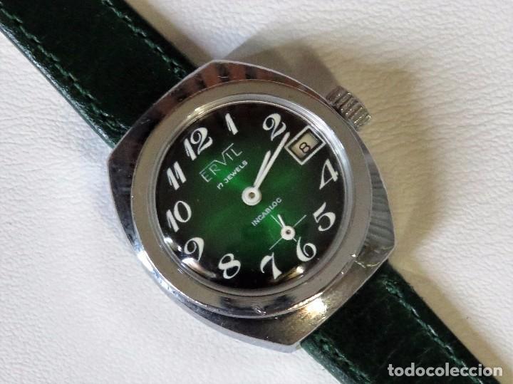 Relojes de pulsera: ERVIL SUIZO DE CUERDA MANUAL AÑOS 70 - Foto 2 - 98170855