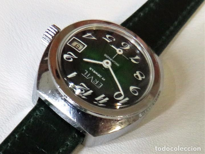 Relojes de pulsera: ERVIL SUIZO DE CUERDA MANUAL AÑOS 70 - Foto 7 - 98170855