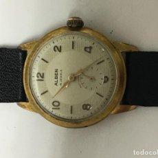 Relojes de pulsera: RELOJ ABEN CAJA CHAPADA ORO EN FUNCIONAMIENTO MUY ELEGANTE VINTAGE . Lote 98194807