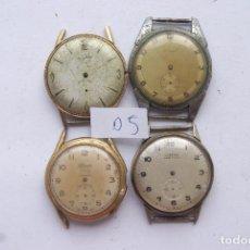 Relojes de pulsera: LOTE DE 4 RELOJES MECANICOS CLASICOS ANTIGUOS C16. Lote 98195527