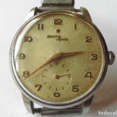 Relojes de pulsera: MAGNIFICO RELOJ ANTIGUO ZENITH SPORTO A CUERDA,FUNCIONANDO,DE CABALLERO,SALIDA 1 EURO. Lote 98206195