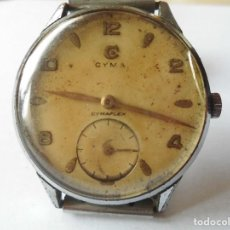 Relojes de pulsera: MAGNIFICO ANTIGUO RELOJ CYMA CYMAFLEX FUNCIONANDO DE CABALLERO,SALIDA 1 EURO. Lote 98206367