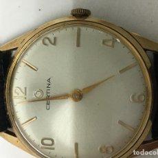 Relojes de pulsera: RELOJ CERTINA CAJA CHAPADA ORO Y CORREA DE PIEL MUY ELEGANTE . Lote 98295855