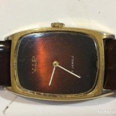 Relojes de pulsera: RELOJ VIP CAJA CHAPADA VINTAGE EN FUNCIONAMIENTO MUY ELEGANTE . Lote 98658047