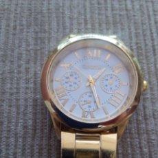 Relojes de pulsera: RELOJ GENEVA DORADO. Lote 98724255