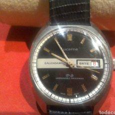 Relojes de pulsera: RELOJ SUIZA LUCERNE AÑOS 60/70 PILOTO UMBREAKABLE MAINSPRING. Lote 98901935