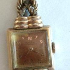 Relojes de pulsera: RELOJ TACAR ANTIMAGNETIC, PLAQUE DE ORO, NO FUNCIONA. Lote 99082595