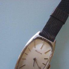 Relojes de pulsera: RELOJ VINTAGE MUJER BULOVA CARGA MANUAL CAJA ACERO AÑOS 70. Lote 99809679