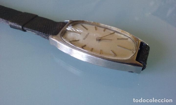 Relojes de pulsera: RELOJ VINTAGE MUJER BULOVA CARGA MANUAL CAJA ACERO AÑOS 70 - Foto 4 - 99809679
