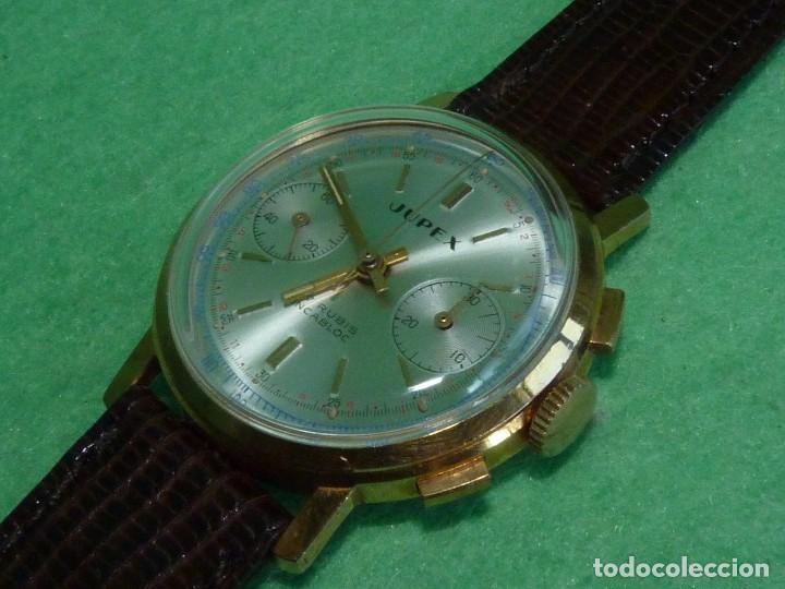 ELEGANTE RELOJ CRONOMETRO JUPEX CALIBRE LANDERON 247 SWISS MADE 17 RUBIS AÑOS 60 (Relojes - Pulsera Carga Manual)