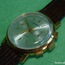 Relojes de pulsera: ELEGANTE RELOJ CRONOMETRO JUPEX CALIBRE LANDERON 247 SWISS MADE 17 RUBIS AÑOS 60. Lote 99902643