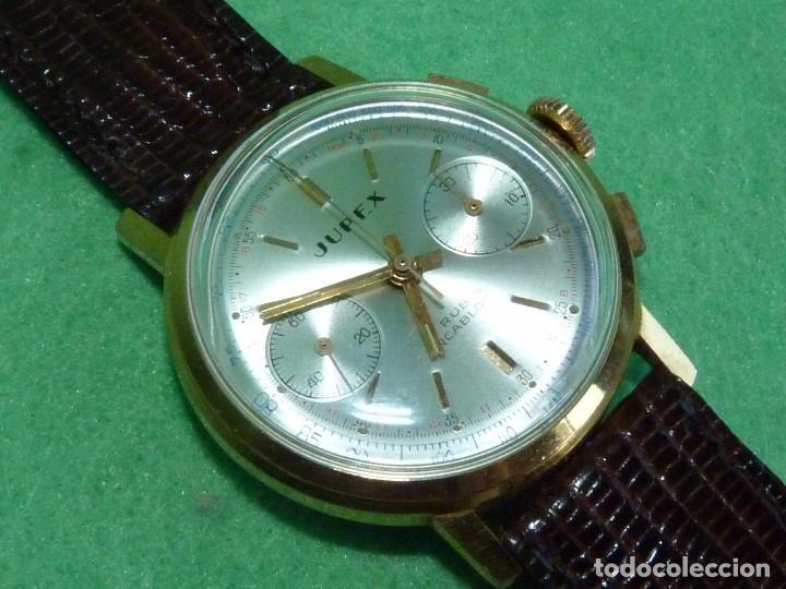 Relojes de pulsera: ELEGANTE RELOJ CRONOMETRO JUPEX CALIBRE LANDERON 247 SWISS MADE 17 RUBIS AÑOS 60 - Foto 2 - 99902643