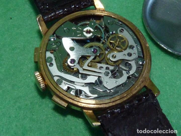 Relojes de pulsera: ELEGANTE RELOJ CRONOMETRO JUPEX CALIBRE LANDERON 247 SWISS MADE 17 RUBIS AÑOS 60 - Foto 6 - 99902643