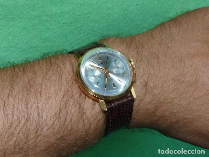 Relojes de pulsera: ELEGANTE RELOJ CRONOMETRO JUPEX CALIBRE LANDERON 247 SWISS MADE 17 RUBIS AÑOS 60 - Foto 9 - 99902643