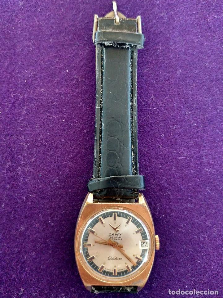 ANTIGUO RELOJ DE PULSERA CAMY GENEVA DE LUXE. CARGA MANUAL-CUERDA. EN FUNCIONAMIENTO. SWISS. AÑOS 50 (Relojes - Pulsera Carga Manual)