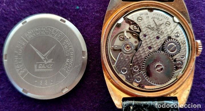 Relojes de pulsera: ANTIGUO RELOJ DE PULSERA CAMY GENEVA DE LUXE. CARGA MANUAL-CUERDA. EN FUNCIONAMIENTO. SWISS. AÑOS 50 - Foto 2 - 220872645