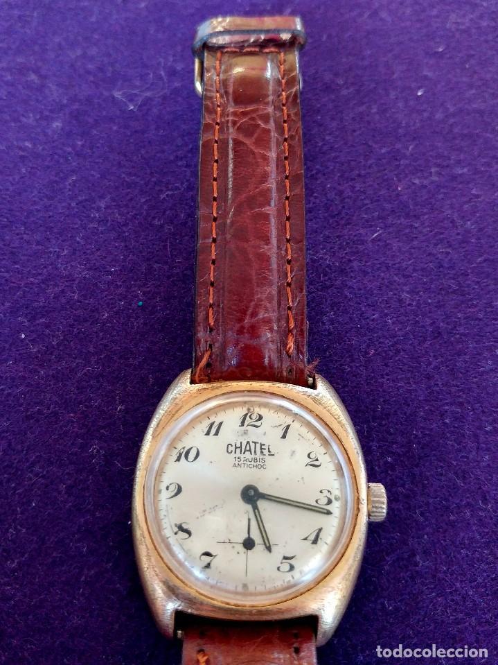 ANTIGUO RELOJ DE PULSERA CHATEL. CARGA MANUAL-CUERDA. EN FUNCIONAMIENTO. SWISS. AÑOS 50 (Relojes - Pulsera Carga Manual)