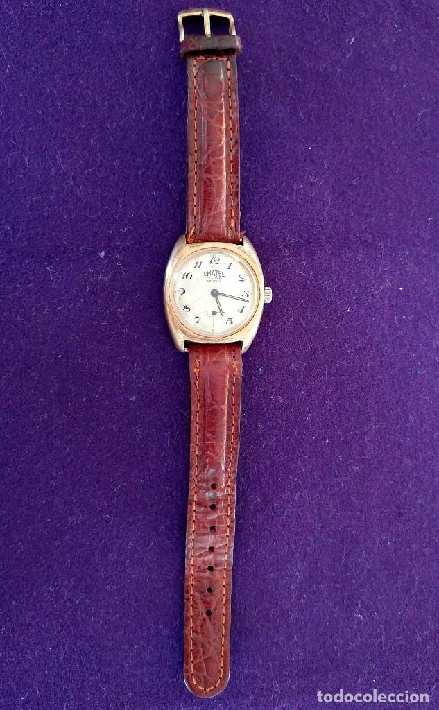 Relojes de pulsera: ANTIGUO RELOJ DE PULSERA CHATEL. CARGA MANUAL-CUERDA. EN FUNCIONAMIENTO. SWISS. AÑOS 50 - Foto 2 - 100387611