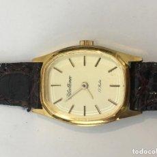 Relojes de pulsera: RELOJ MECANICO BLATINA 17 RUBIS CHAPARO ORO STOCK JOYERIA. Lote 100489191