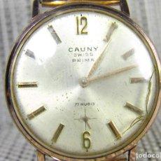 Relojes de pulsera: CLASICO Y BONITO CAUNY AÑOS 60 CHAPADO EN ORO FUNCIONA MUY FINAMENTE LOTE WATCHE. Lote 101028187