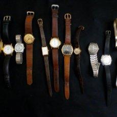 Relojes de pulsera: CONJUNTO DE 12 RELOJES DE PULSERA, RELOJ, CAUNY, VICEROY, LOTUS, THERMIDOR, SEIKO, OLD ENGLAND. Lote 101063050
