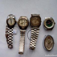 Relojes de pulsera: LOTE DE 4 RELOJES FUNCIONANDO + 1REGALO SAVAR, FLIPPER...M9. Lote 101283195