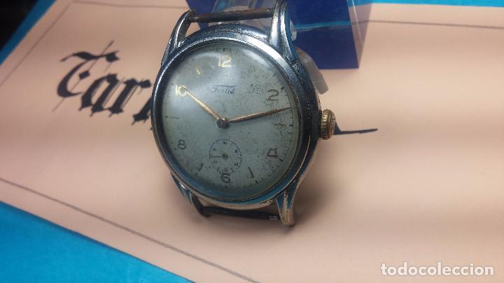 Relojes de pulsera: Botito y muy antiguisimo reloj de cuerda de caballero FORTIS - Foto 5 - 101285619