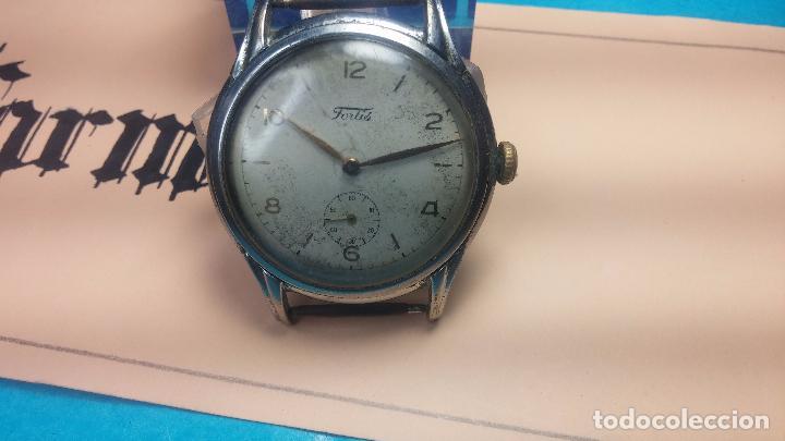 Relojes de pulsera: Botito y muy antiguisimo reloj de cuerda de caballero FORTIS - Foto 6 - 101285619