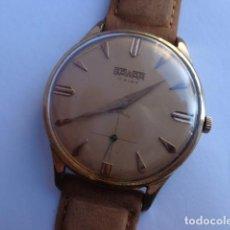 Relojes de pulsera: ANTIGUO (AÑOS 50-60) Y BONITO RELOJ CABALLERO CUERDA --SAWAR--GRUESO CHAPADO EN ORO, FUNCIONANDO Y C. Lote 102667063
