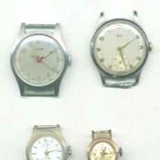Relojes de pulsera: CUATRO RELOJES SWISE MADE: BULER, TARGET, AVIA Y THERMIDOR.. Lote 102742603