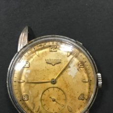 Relojes de pulsera: RELOJ DE PULSERA CARGA MANUAL CABALLERO MARCA LONGINES ORIGINAL ACERO 1943, FUNCIONANDO, LEER DECRIP. Lote 102772379